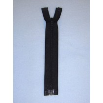 "6"" Black Separator Zipper"