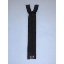 "6"" Black Separator Zipper"