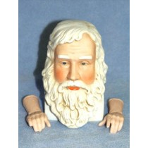 "6"" Porcelain Santa Head w_Hands"