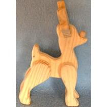 "6"" Standing Wood Reindeer"