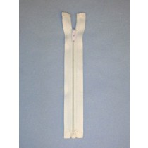 "6"" White Separator Zipper"
