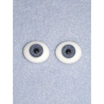 6mm Oval Flat Glass Eye - Blue