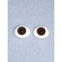 Doll Eye - Flat Back Glass - 6mm Brown