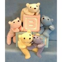 "7"" & 10"" Bean Bear Buddies Pattern"