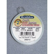 "7 Strand Beading Wire - .018"" (.46 mm) Bright - 30 ft spool"
