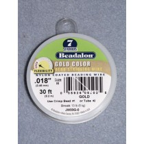 """7 Strand Beading Wire - .018"""" (.46 mm) Gold - 30 ft spool"""