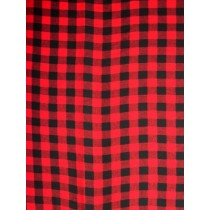 |Fabric - Red_Black Buffalo Plaid Flannel