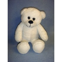 "8"" Plush Sitting White Bear"