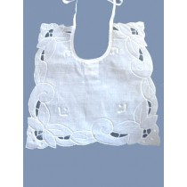 "8"" Square Cutwork Bib"