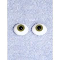 8mm Oval Flat Glass Eye - Green