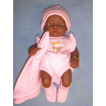 "9.5"" La Newborn Play Doll - Open Eyes - Dark Skin"