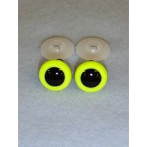 Animal Eye - 12mm Bright Yellow Pkg_100