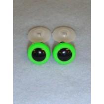 Animal Eye - 13.5mm Bright Green Pkg_100