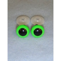 Animal Eye - 13.5mm Bright Green Pkg_100