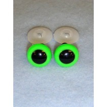 Animal Eye - 16.5mm Bright Green Pkg_50