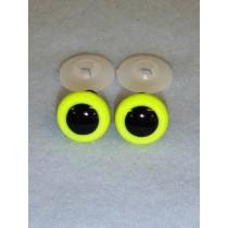 Animal Eye - 16.5mm Bright Yellow Pkg_50