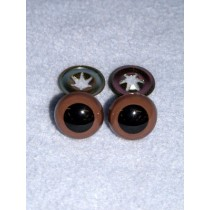 Animal Eye - w_Metal - 12mm Brown Pkg_100