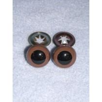 Animal Eye - w_Metal - 15mm Brown Pkg_100