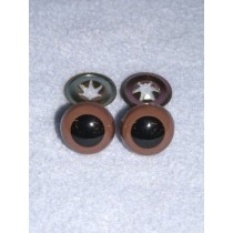 Animal Eye - w_Metal - 15mm Brown Pkg_100