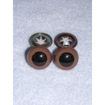 Animal Eye - w_Metal - 15mm Brown Pkg_6