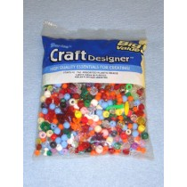 Assorted Plastic Beads 7 oz bag