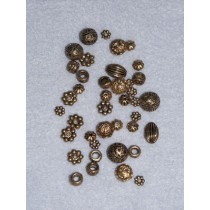 Asst Gold Spacers - Pkg_40