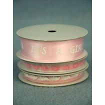 Baby Feet Ribbon - Pink - Pkg_3 spools