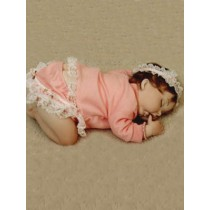 "Baby Girl Set - 18"" Pink Knit"