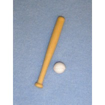 "Baseball Set - 3"" Wood Bat & Ball"