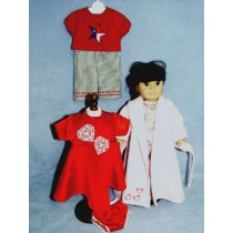 """Basic Clothes Pattern for 18"""" Dolls"""
