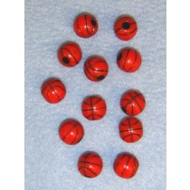 Bead -Basketball-12mm Orange Pkg_12