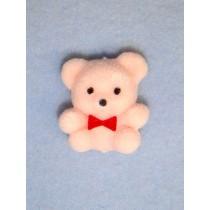 "|Bear - 1"" Flocked - Pink"