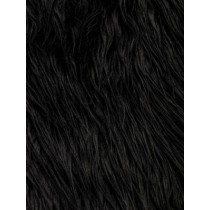 Black Mongolian Fur - 1 Yd