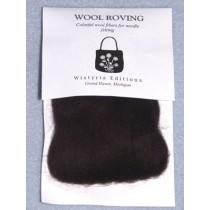 "Black Wool Roving for Needlefelting - 12"""