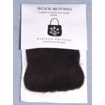 Black Wool Roving for Needlefelting - 12""