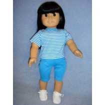 "Blue Bike Shorts for 18"" Dolls"
