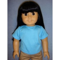 "Blue 'Design Your Own' T-Shirt for 18"" Dolls"