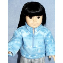 "Blue Fleece Pullover - 18"" Doll"