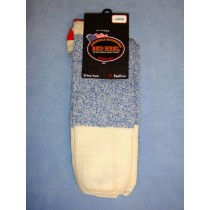 Blue Red Heel Socks (Large) Pkg_4 Socks