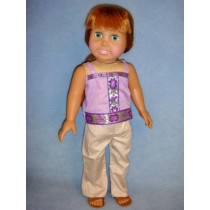 "|Bohemian Shirt & Pants for 18"" Doll"