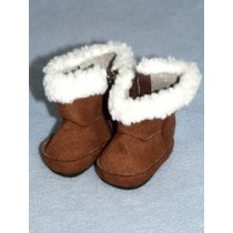 "Boot - 2 3_4"" Brown Suede w_Sherpa Trim"