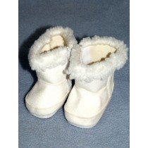 "Boot - 2 3_4"" White Suede w_Sherpa Trim"