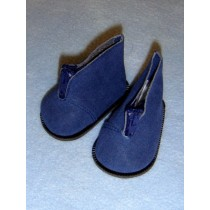 "Boot - Ankle w_Zipper - 3"" Navy Blue Suede"