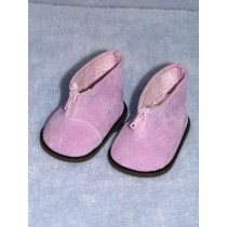 "Boot - Ankle w_Zipper - 3"" Purple Suede"