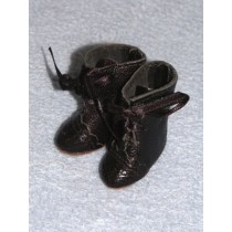 "Boot - French Lace-Up - 1 1_2"" Black Leather"