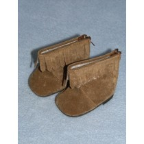 "Boot - Moccasin - 2 3_4"" Brown Suede"