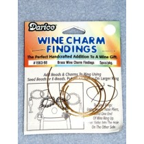 Brass Wine Charm Finding - Pkg_5