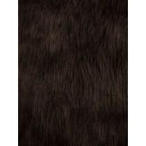Brown Luxury Shag Fur - 1 Yd