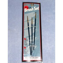 Brush Set - #0,00 & 000