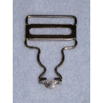 "Buckle -Overall -1"" Nickel Pkg_2 Pr"